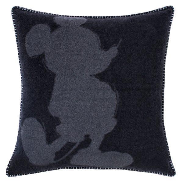 mickey soft mouse zoeppritz viscose kissenbezug 50x50 schwarz