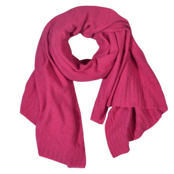 hot zoeppritz cashmere schal 110x150 grelles pink