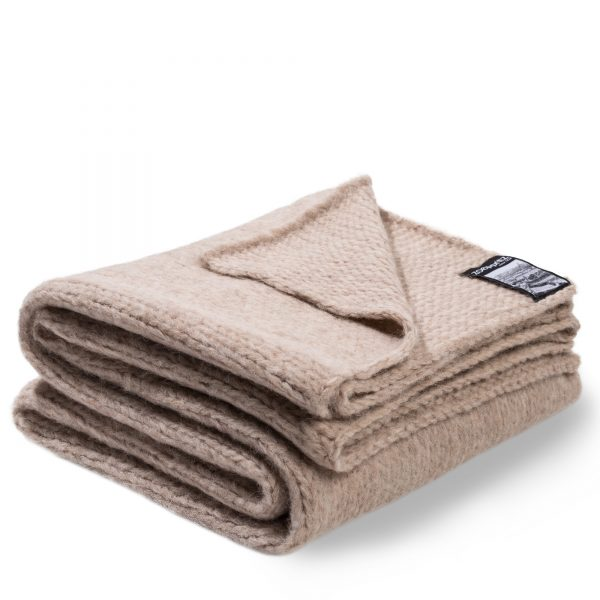 knitty zoeppritz alpaka decke 140x190 sandstein beige