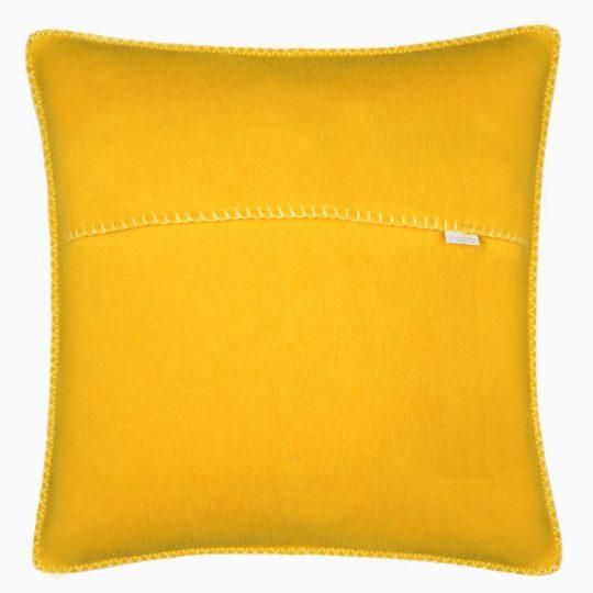 zoeppritz weicher soft fleece kissenbezug 40x40 curry gelb