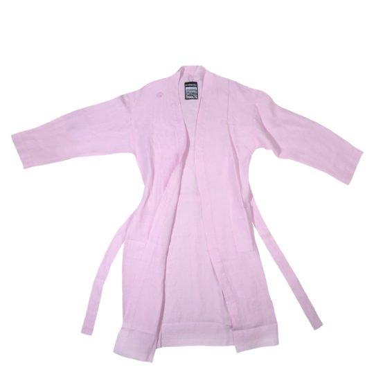 stay zoeppritz leinen bademantel rosa