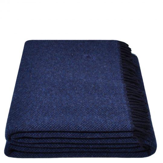 must relax zoeppritz schurwolle plaid 130x190 navy blau