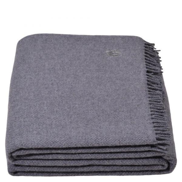 must relax zoeppritz schurwolle plaid 130x190 mittelgrau grau melliert