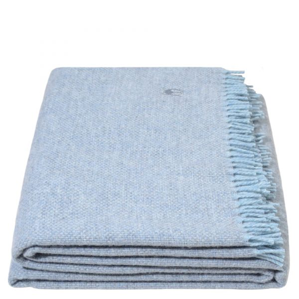must relax zoeppritz schurwolle plaid 130x190 pudriges blau