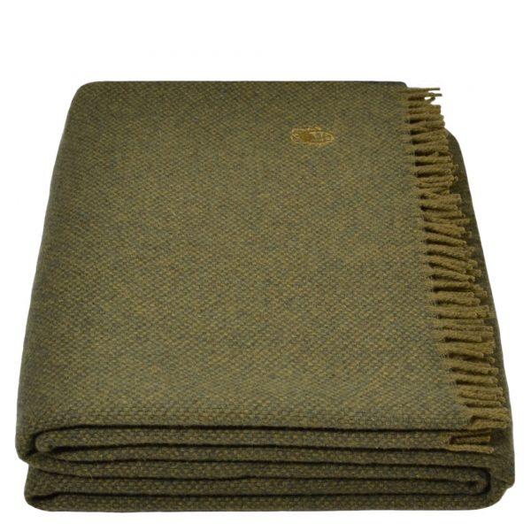 must relax zoeppritz schurwolle plaid 130x190 wald gruen