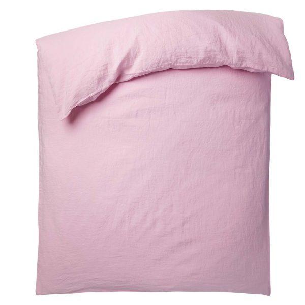 stay zoeppritz leinen bettbezug rosa