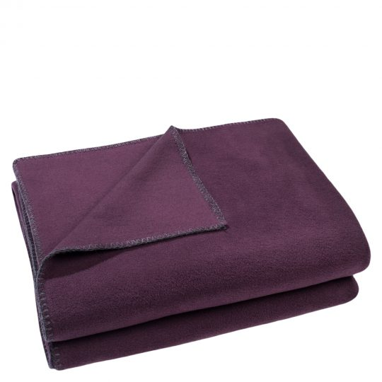 zoeppritz weiche soft fleece decke 160x200 schwarzbeer lila