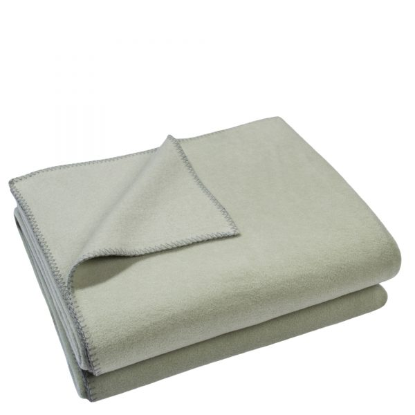 zoeppritz weiche soft fleece decke 160x200 gruen