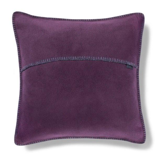 zoeppritz weicher soft fleece kissenbezug 50x50 schwarzbeer lila