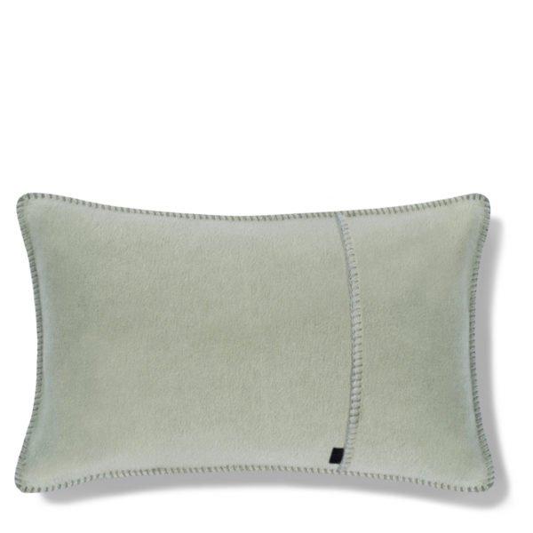 zoeppritz weicher soft fleece kissenbezug 30x50 milchig gruen