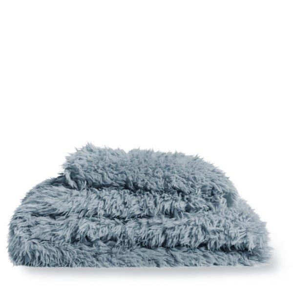 zoeppritz kunstfell reborn decke 140x190 wasser blau