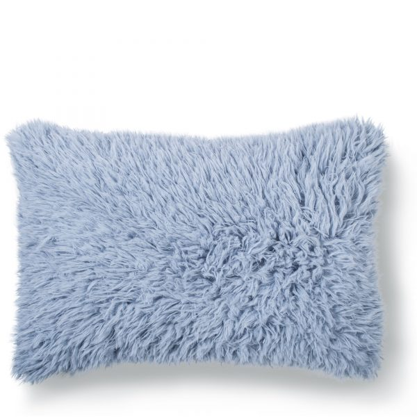 zoeppritz kunstfell reborn kissenbezug 40x60 wasser blau