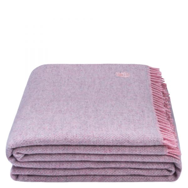 must relax zoeppritz schurwolle plaid 130x190 rosa