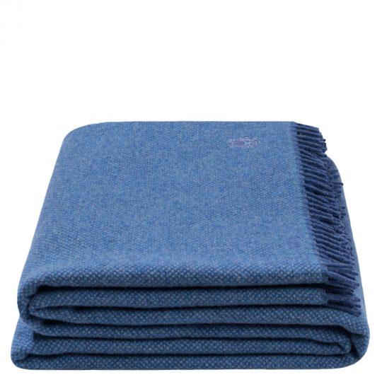 must relax zoeppritz schurwolle plaid 130x190 denim jeans blau