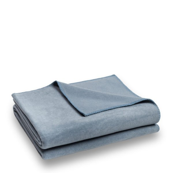 zoeppritz weiche soft fleece decke 160x200 denim jeans blau