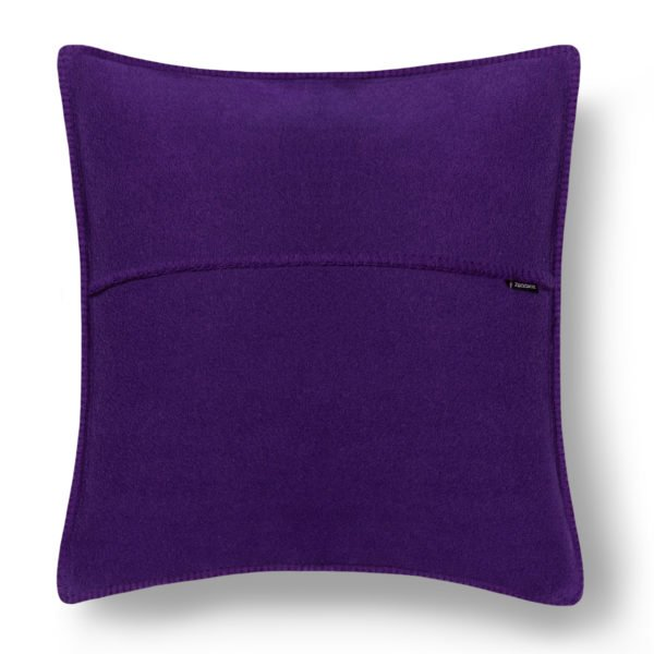 zoeppritz weicher soft fleece kissenbezug 50x50 leuchtendes lila