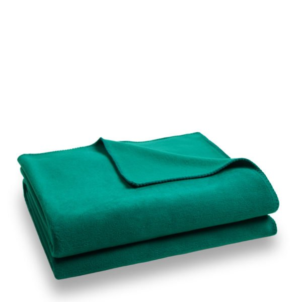 zoeppritz weiche soft fleece decke 160x200 dunkles tuerkis