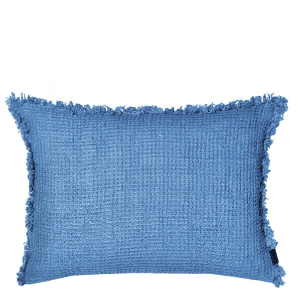 honeybee zoeppritz leinen kissenbezug 40x60 denim jeans blau