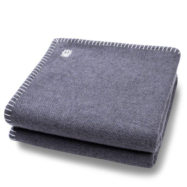 must stitch zoeppritz schurwolle decke 150x200 dunkles weiss