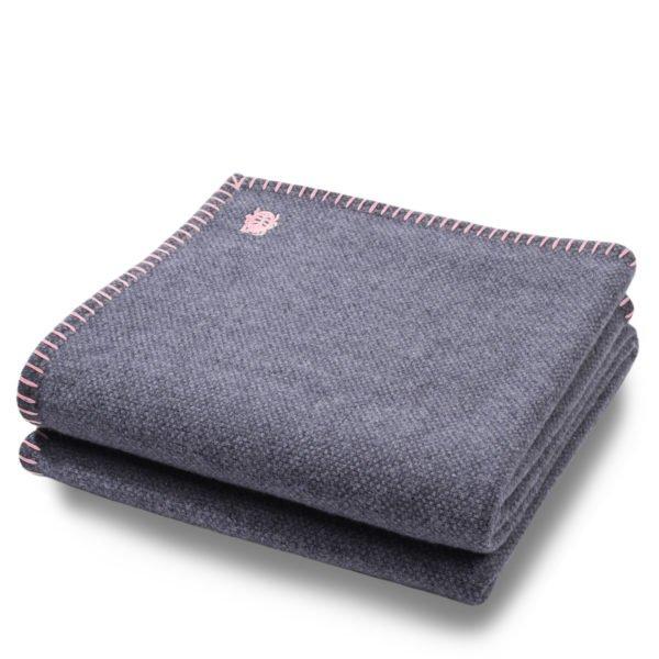 must stitch zoeppritz schurwolle decke 150x200 rosa
