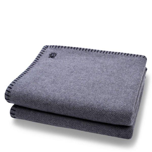 must stitch zoeppritz schurwolle decke 150x200 schwarz