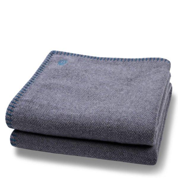 must stitch zoeppritz schurwolle decke 150x200 pfau tuerkis