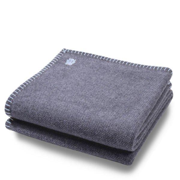 must stitch zoeppritz schurwolle decke 150x200 pudriges blau