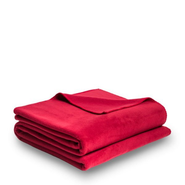 zoeppritz weiche soft fleece decke 160x200 erdbeer rot