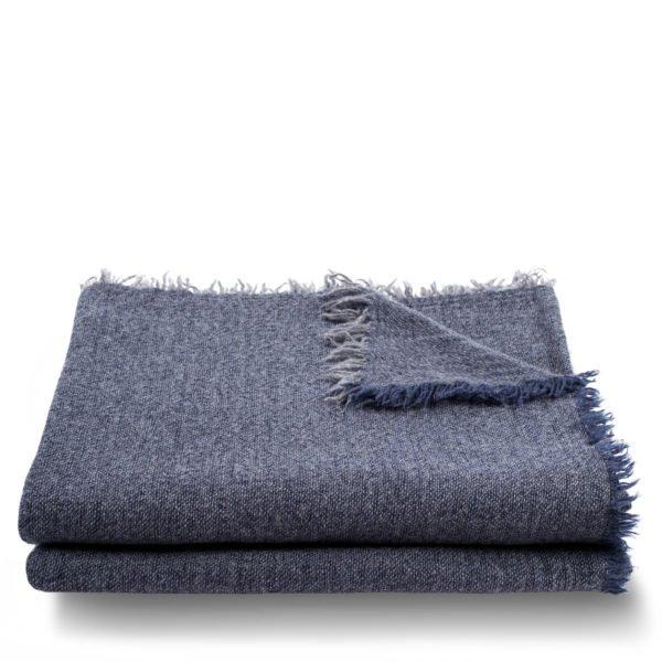 hot air zoeppritz cashmere decke 160x210 dunkles marine blau