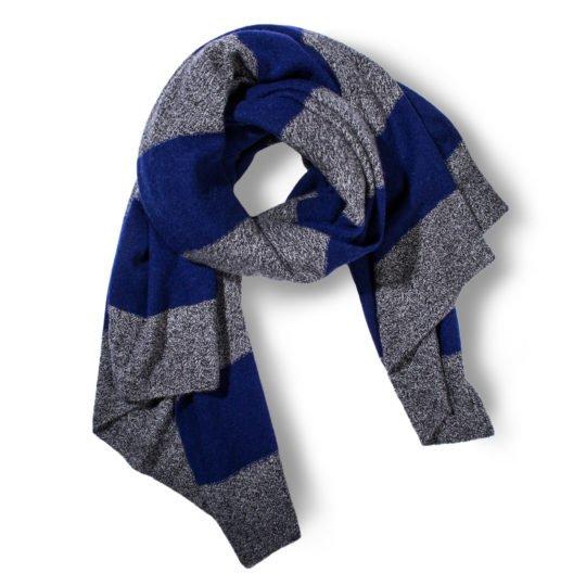 hot block zoeppritz cashmere schal 110x155 royal blau