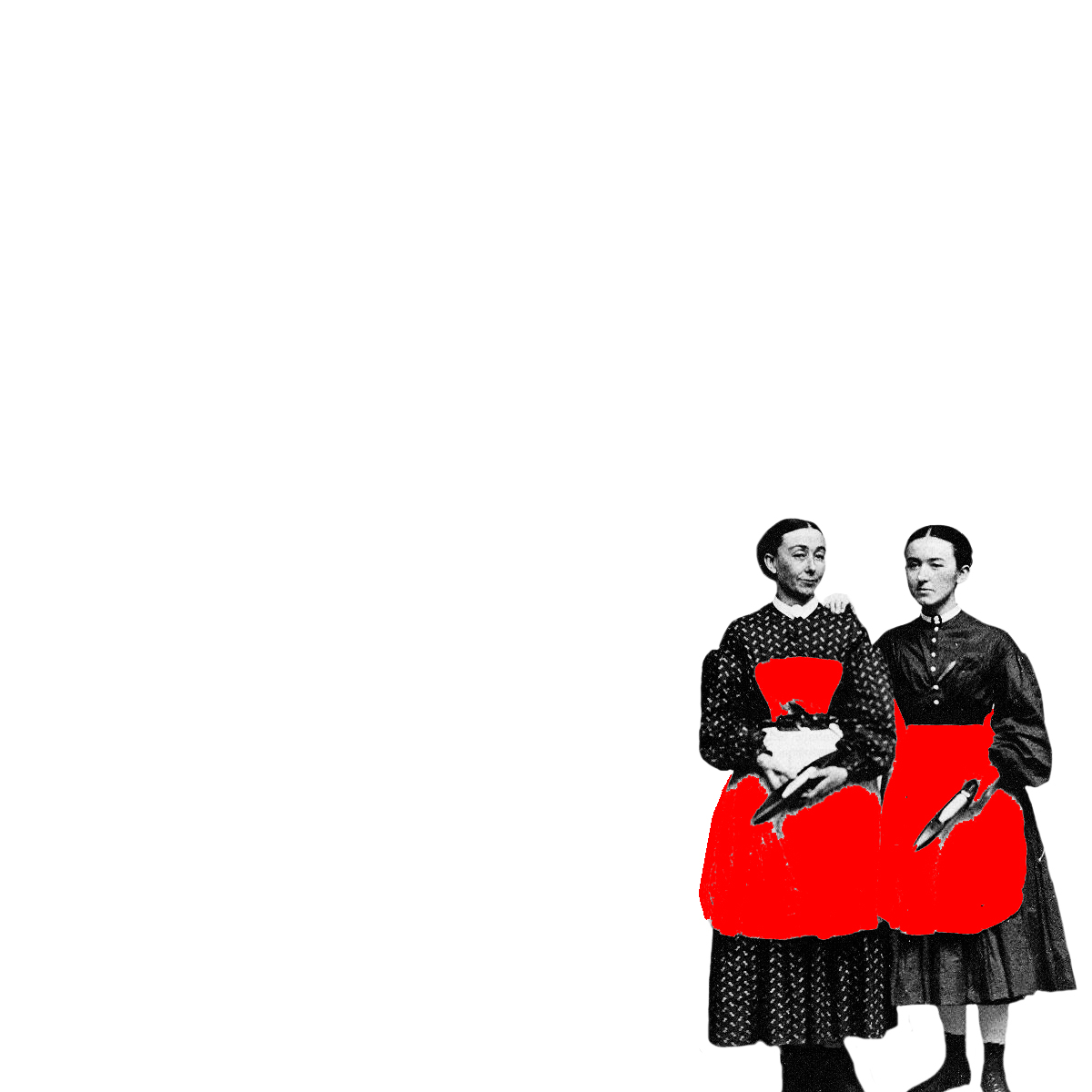 Porträt zweier Weberinnen aus dem Hause zoeppritz