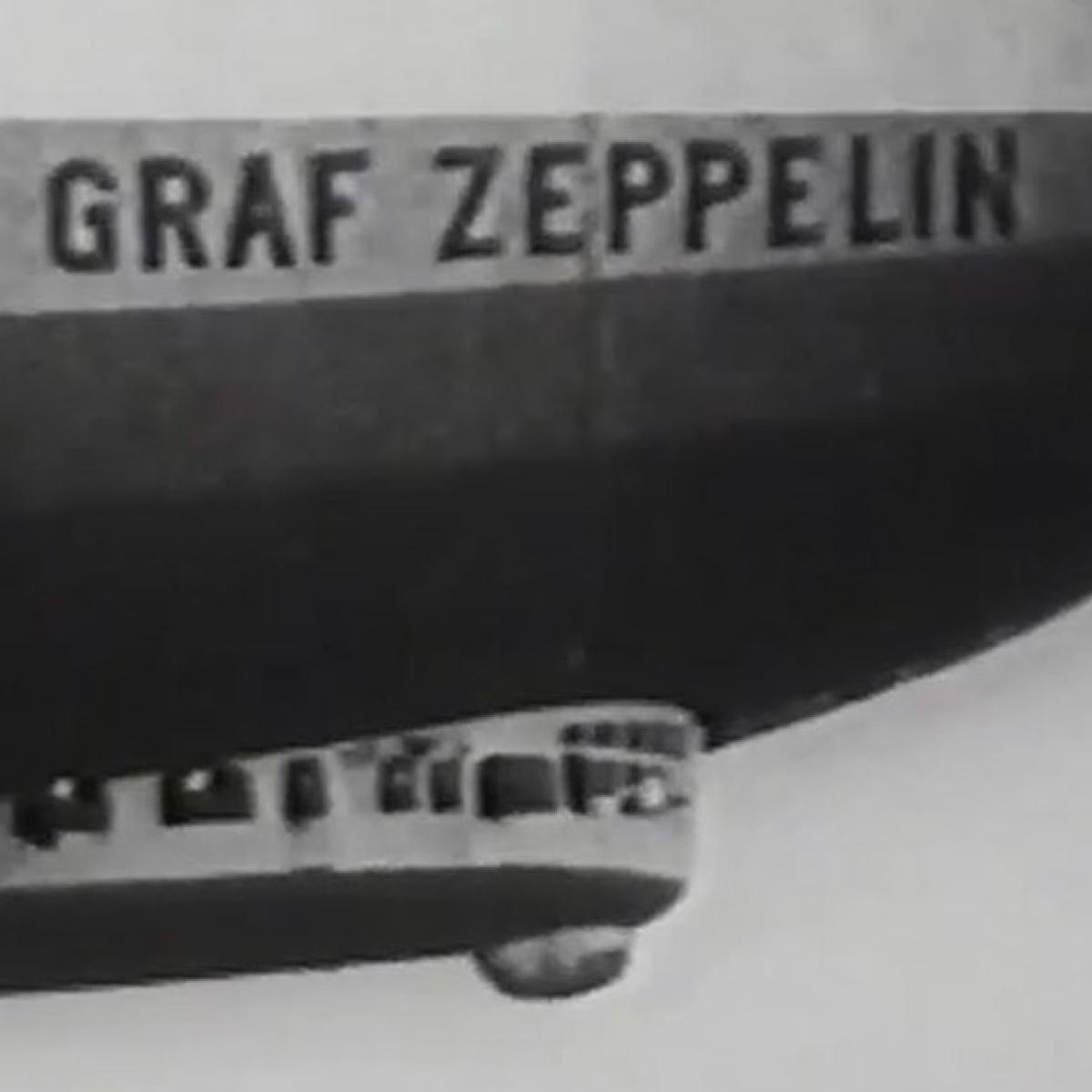 Ausschnitt des Graf Zeppelin Luftschiffes