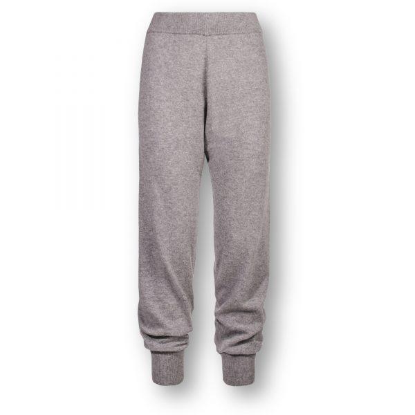 zoeppritz Cashmere Hose Hose, Farbe hellgrau grau-meliert, Material Cashmere in Groesse M