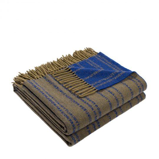 zoeppritz Believe in Decke, Farbe gruen, Material Schurwolle in Groesse 140x190