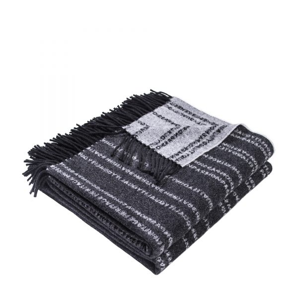zoeppritz Believe in Decke, Farbe schwarz, Material Schurwolle in Groesse 140x190