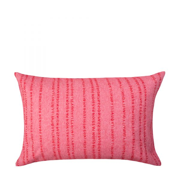 zoeppritz Believe in Kissenbezug, Farbe pink-rot, Material Schurwolle in Groesse 40x60