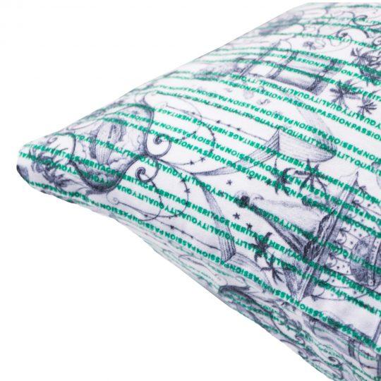 zoeppritz Believe in centuries Kissenbezug, Farbe gruen, Material Baumwolle in Groesse 40x40