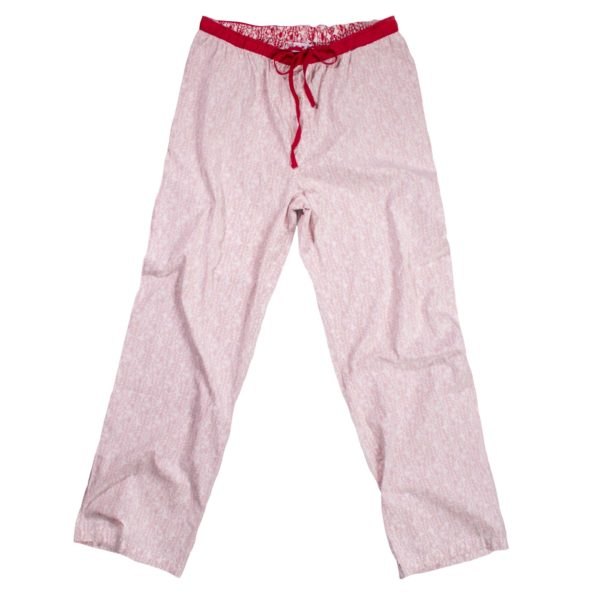 zoeppritz Sleepy Jag Schlafanzug Hose, Farbe weiss rot, Material Baumwolle, in Groesse XL