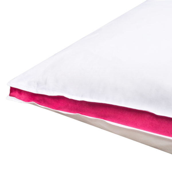 zoeppritz Absolute Kissenbezug, Farbe weiss mit rot, Material Baumwolle Perkal in Groesse 30x40