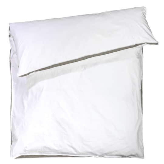 zoeppritz Absolute Bettbezug, Farbe weiss mit braun, Material Baumwolle Perkal in Groesse 240x240