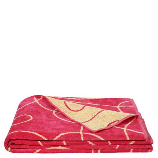 zoeppritz Beach1828 Strandtuch Duschtuch, Farbe rot gemustert, Material Baumwolle, in Groesse 100x190