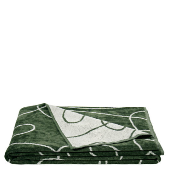 zoeppritz Beach1828 Strandtuch Duschtuch, Farbe gruen gemustert, Material Baumwolle, in Groesse 100x190