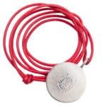 zoeppritz Jag coin necklace Silber Kette Baumwollband gewachst