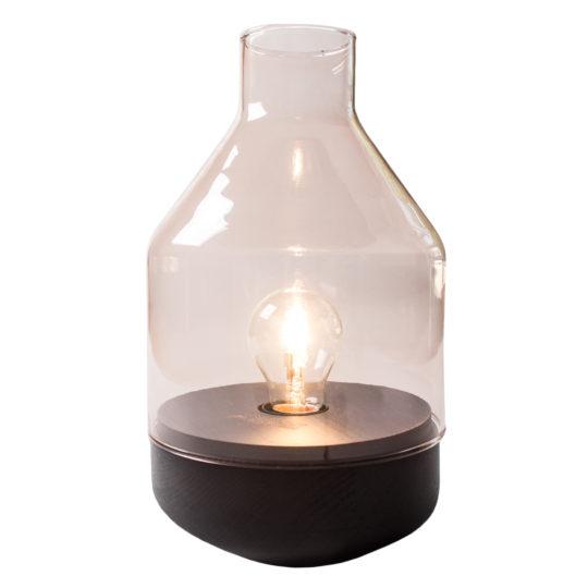 zoeppritz Tischlampe Glas Belly, rosa