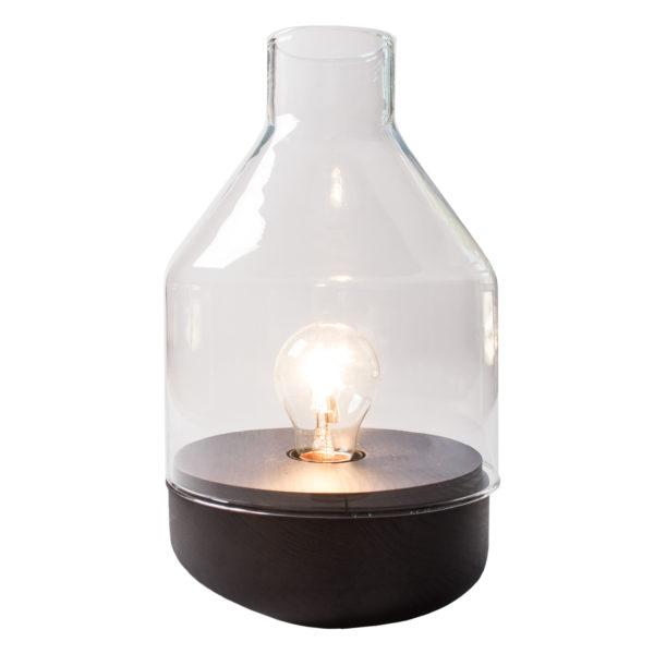 zoeppritz Tischlampe Glas Belly, weiss