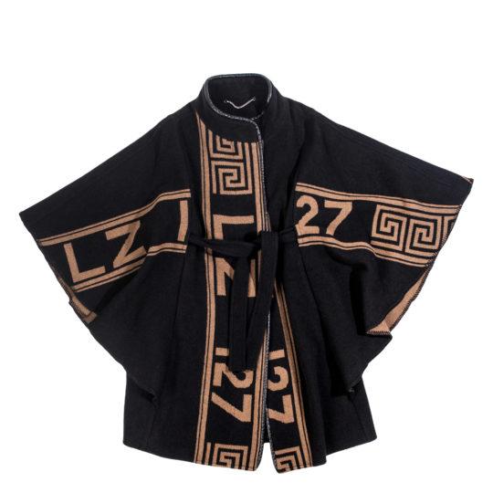 zoeppritz The Heroine Mantel, Farbe braun schwarz, Material Merino-Cashmere Mix, Groesse XS