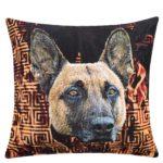 zoeppritz Grotesque Shepherd Kissenbezug, gemustert, Hund, Material Baumwolle in Groesse 70x70