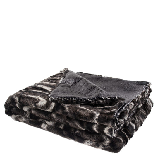 zoeppritz Reborn Crack Plaid, schwarz, Material Polyester Kunstfell in Groesse 140x200