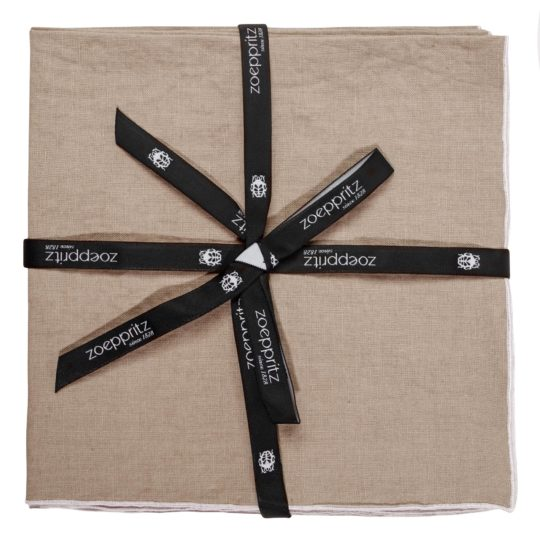 zoeppritz Stay Serviette, Farbe natur, Material Leinen in Groesse 40x40