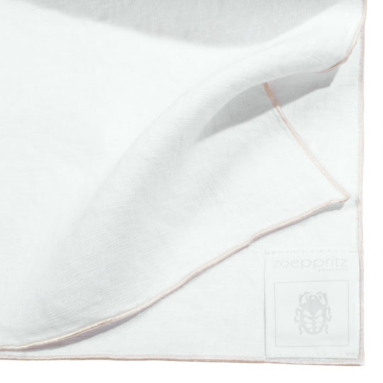 zoeppritz Stay Serviette, Farbe weiss, Material Leinen in Groesse 40x40